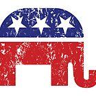Republican Original Elephant Distressed by Republican
