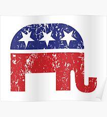 Republican Original Elephant Distressed Poster