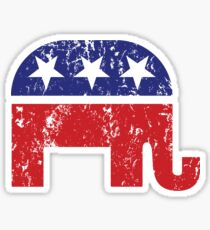 Republican Original Elephant Distressed Sticker