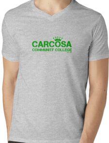 Carcosa Community College Green Mens V-Neck T-Shirt