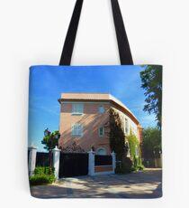 The Pink Villa Of Cap Ferrat Tote Bag