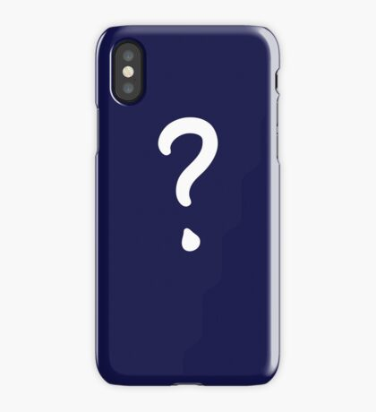 Question Mark - style 1 iPhone Case