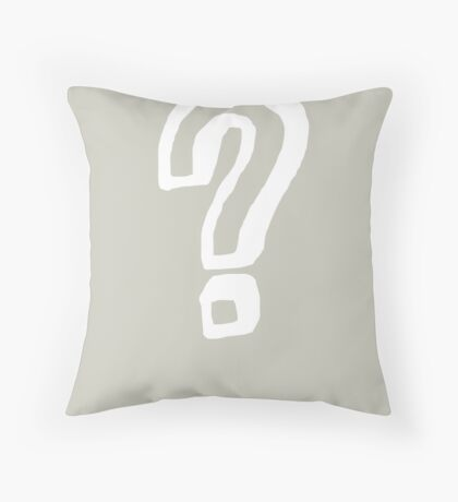 Question Mark - style 8 Throw Pillow
