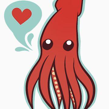 Cute squid by kwinz