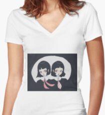 Gemini Sisters Women's Fitted V-Neck T-Shirt