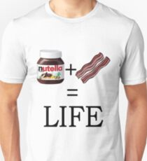 Nutella + Bacon = Life T-Shirt