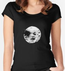 Man in the moon Women's Fitted Scoop T-Shirt
