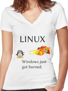 Windows Might Need Some Ice Women's Fitted V-Neck T-Shirt