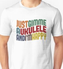 Gimme A Ukulele Slim Fit T-Shirt