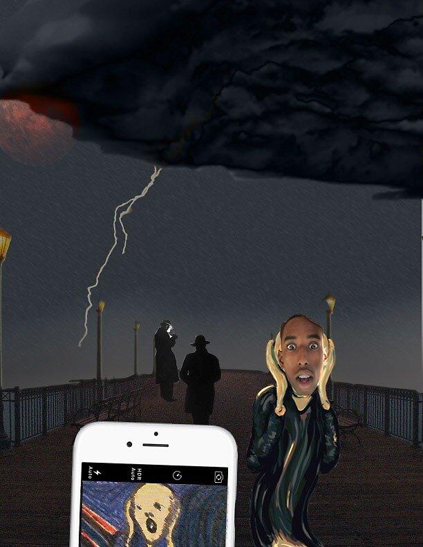 The Scream Selfie by Hassan El-Amin