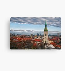St Martin's Cathedral and Bratislava Canvas Print
