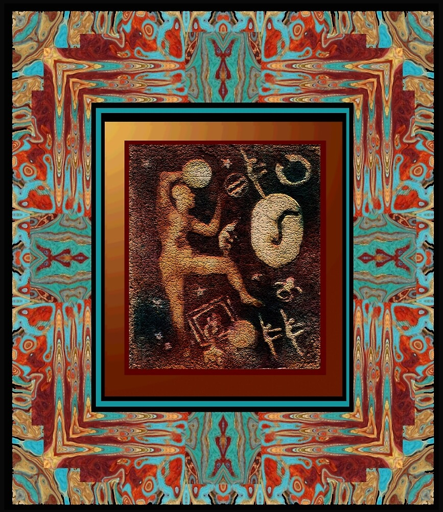 ANCIENT GLYPHS-A-FRAMED by JA DONELSON