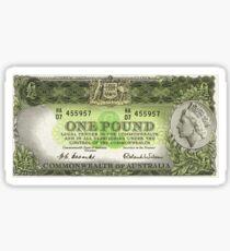 Note Of The Last Australian Pound Sticker