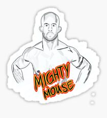 Mighty Mouse (D. Johnson) MMA  Sticker