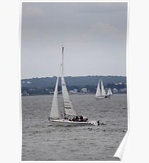 Sailboating The Ocean Harbor Poster