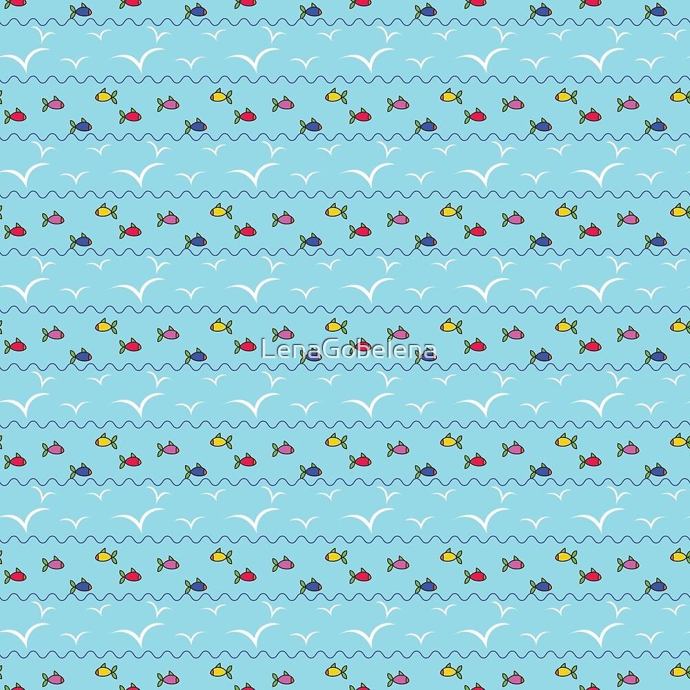 Blue blue sea by LenaGobelena
