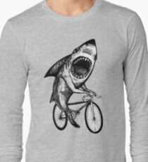 Shark Ride Bicycle  Long Sleeve T-Shirt
