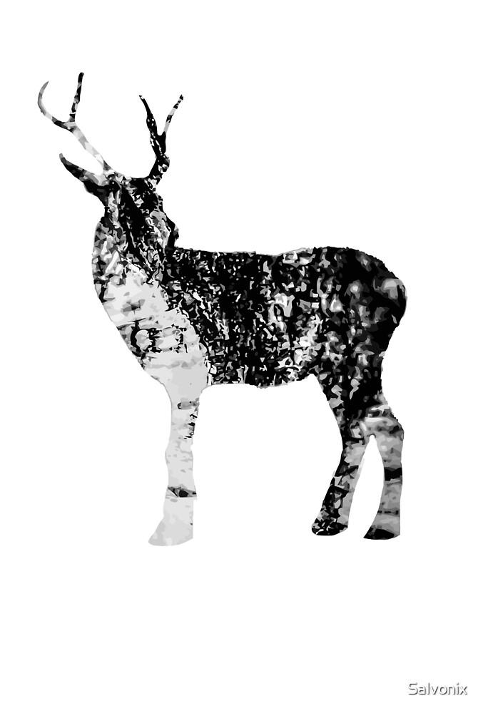 Bark Reindeer by Salvonix