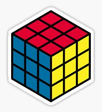 Rubik's cube hexagonal pattern Sticker