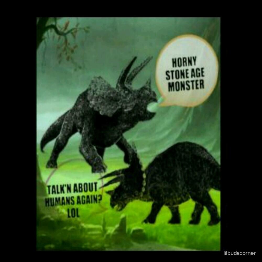 Horny stone age monster  by lilbudscorner