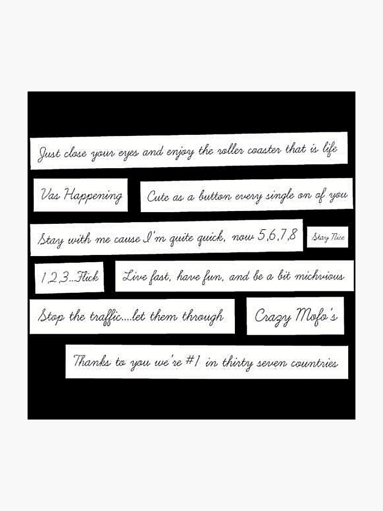One Direction quotes | Photographic Print