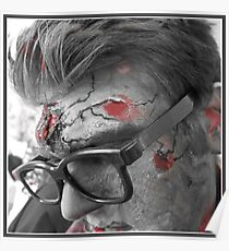 Hipster zombie Poster