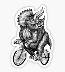 Triceratops Ride Bicycle  Sticker