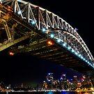 Sydney Harbour Bridge at Night by worldwondering