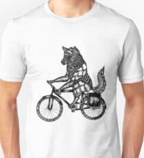 Wolf on a Bike Ride  Unisex T-Shirt