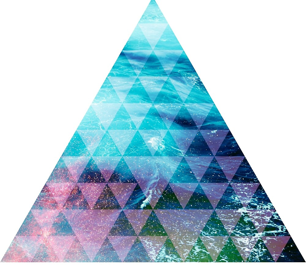 Ocean geometrical pyramid by absolutewhite