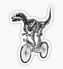 Skeleton Fossil Love Bike  Sticker