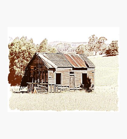 Old shingle roof building  Photographic Print
