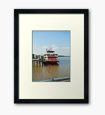 Mississippi River Boat in NOLA Framed Print