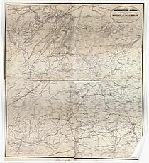 Civil War Maps 1211 Northwestern Georgia with portions of the adjoining States of Tennessee and Alabama being part of the Department of the Cumberland Poster