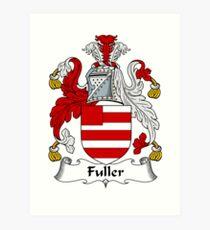 Fuller Coat of Arms / Fuller Family Crest Art Print
