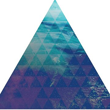 Blue Pyramid landscape geometric by absolutewhite