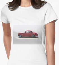 1940 Chevrolet Master Deluxe Coupe Womens Fitted T-Shirt