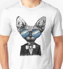 Galaxy Cat Sphynx Sunglass  Unisex T-Shirt
