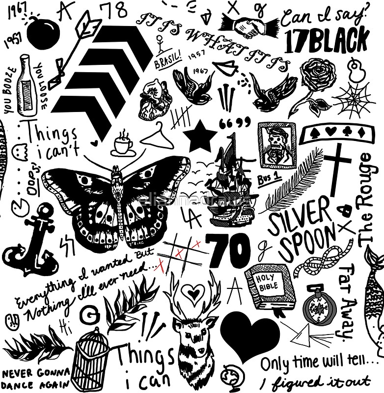 """1D Tattoos Updated (2015)"" Stickers by eliannadraws ..."