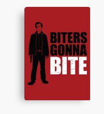 Biters Gonna Bite Canvas Print