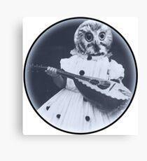Musical Owl Canvas Print