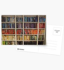 Bookcase Colours Bright Postcards