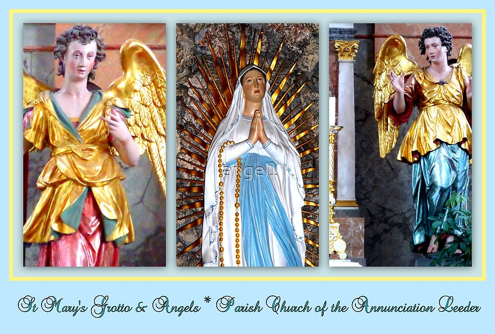 St. Mary's Grotto & Angels ~ Parish Church of the Annunciation Leeder by ©The Creative  Minds