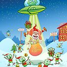 Santa Claus Abducted by a UFO just before Christmas by Zoo-co