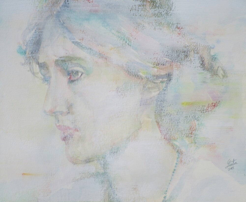 VIRGINIA WOOLF - watercolor portrait.5 by lautir