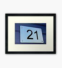21 Framed Print