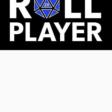 Roll Player Blue d20 Sticker by NaShanta