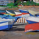 Almuñecar Boats by Lori Elaine Campbell