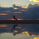surfer silhouettes III by geophotographic