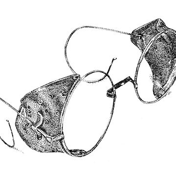 Dotwork vintage goggles by illustrxn